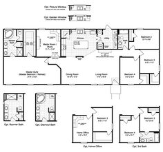 The Harbor House III FTP476M1 Home Floor Plan | Manufactured and/or Modular Floor Plans available floor plan