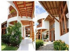 Casa chinauta - Paperblog Cabana, Bamboo Design, Interior Exterior, Architecture Design, Pergola, Outdoor Structures, Home, Google, Large Windows