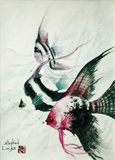 fishes in watercolor