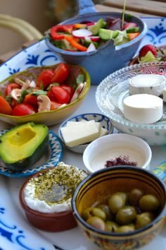 That's what it looks like, breakfast in Israel.
