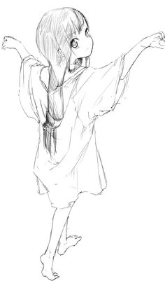 anime girl sketch | Anime - Black and White | Pinterest