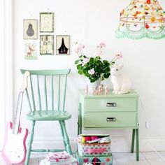 Tiny Little Pads - Interiors for Kids: Scandinavian Retro Kids Room Inspiration. Deco Pastel, Pastel Room, Granny Chic, Little Girl Rooms, Kid Spaces, Kids Decor, Boy Decor, House Colors, Wall Colors