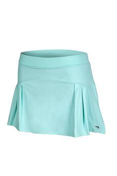 RAINHA FEMME F - saia com cós médio e shorts interno. Recorte frontal com 2 pregas laterais.