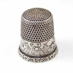 Vintage Antique Sterling Silver Sewing Thimble