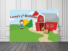Farm Backdrop / Farm Birthday Vinyl Banner by UnlimitedPartyThemes
