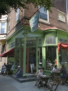 Green Line Cafe, 43rd and Baltimore Ave. in West Philly (on the 34 Green Line trolley line).  One of my favorite places for coffee and meetings.
