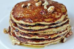 Turn your favorite zucchini bread into a pancake! Perfect for breakfast or even a snack!