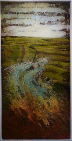 Jernej Forbici, In my place where to go 1, 2008, acrilico e olio su tela, 100 x 200 cm  #contemporary #art #painting