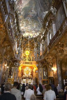 Things to do in Munich - Interior of Asamkirche  #germany #munich #oktoberfest #beer #thingstodo #explore #travel #traveltherenext
