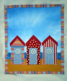Beach Huts mini quilt. Edna Stimpson, 2013