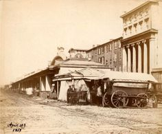 & Market Streets photographed on April just think City Hall hadn't started construction until 1871 Photo Credit: The Free Library of Philadelphia Philadelphia History, Historic Philadelphia, Germantown Philadelphia, Old Pictures, Old Photos, Philly Pa, South Philly, Interesting History, Back In The Day