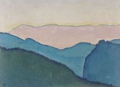 Bergketten, by Kolo Moser, 1913. 38 x 50.3 cm | Leopold Museum, Vienna, Austria