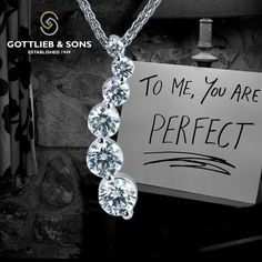 Show her how much she means to you with this 14K White Gold Diamond Pendant Necklace. This stunning ‪#‎necklace‬ features sparkling graduated shared prong set round ‪#‎diamonds‬ in a flowing design. Visit your local ‪#‎GottliebandSons‬ retailer and ask for style number 27387B, http://www.gottlieb-sons.com/product/detail/27387B