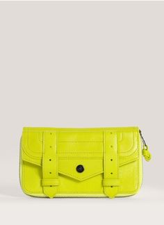 Proenza Schouler - PS1 large leather zip wallet   Yellow and Orange Small Leather Goods   Womenswear   Lane Crawford - Shop Designer Brands Online