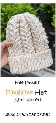 Beanie Knitting Patterns Free, Beanie Pattern Free, Knit Patterns, Crochet Pattern, Free Crochet, Knitting For Beginners, Start Knitting, Knitting Room, Kids Knitting