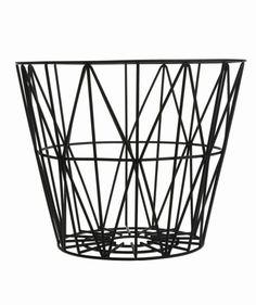 Ferm Living Shop — Wire Basket - Black (S, M, L)