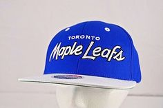 Toronto Maple Leafs Blue/White NHL Baseball Cap Snapback | Clothing, Shoes & Accessories, Men's Accessories, Hats | eBay!