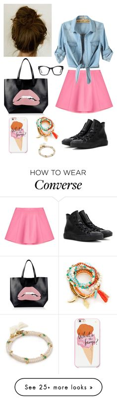 """Untitled #246"" by chameleon141 on Polyvore featuring RED Valentino, Converse, Spitfire, Kate Spade, Red Camel and Shashi"