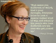 Meryl Streep offers amazing advice (as usual). #bodyimage
