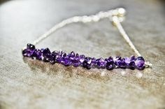 Amethyst Bracelet February Birthstone Pisces by CrystalMinded