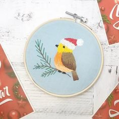 Hand Embroidery Videos, Embroidery Stitches Tutorial, Creative Embroidery, Simple Embroidery, Hand Embroidery Designs, Embroidery Patterns, Christmas Embroidery, Instagram Repost, Bird