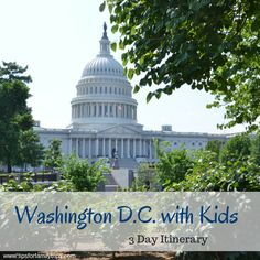 Three days in Washington D.C. with kids | Tips for Family Trips