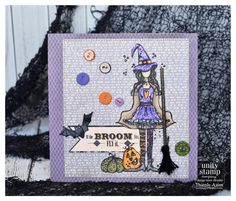 Lovable witch card :) using Unity Stamp Company stamps.