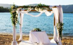 Romantic Arch in white and green shades! Would you like something like this for your wedding? Wedding Videos, Post Wedding, Start Tv, Corfu Holidays, Wedding Window, Wedding Flowers, Wedding Arches, Beach Bars, Get Directions