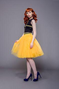 Items similar to Adult yellow tulle skirt, tutu skirt, petticoat, wedding skirt, custom made to order on Etsy Yellow Tutu, Wedding Skirt, Prom Dresses, Summer Dresses, How To Look Better, Dress Up, Ballet Skirt, My Style, Hair Style