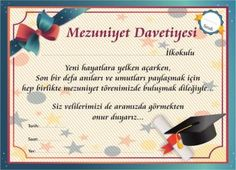 Öğrenci Başarı/Motivasyon Ürünleri - Başarılı Öğrenciler MEZUNİYET TÖRENİ DAVETİYESİ 287