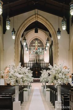 Elegant Winter Wedding at One King West Hotel - Toronto Wedding Photographers Church Wedding Decorations, Ceremony Decorations, Church Weddings, Wedding Church, Wedding Centerpieces, Centrepieces, Lace Weddings, Wedding Book, Flower Centerpieces