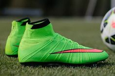 Cristiano Ronaldo special edition Mercurial Superfly Electric Green