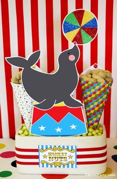 Big Top Circus carnival birthday party ideas for boys or girls! Lots of creative DIY decorations, party printables, food, fun and games!