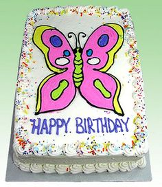 This super cool butter cream transfer butterfly is both tasty and pretty!