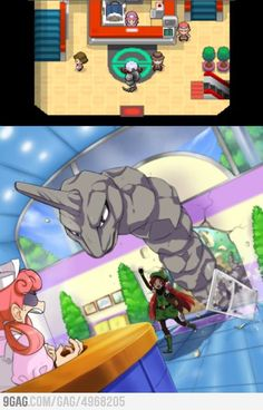 Everytime I go to the pokemon center, Imagaine walking in with Gyarados or a Legendary like Lugia Haha