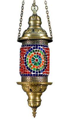 Turkish Hanging mosaic lamp