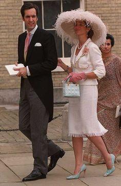 Royalty & Pomp: Infanta Elena of Spain Duchess of Lugo Morning Dress, Spanish Royalty, Spanish Royal Family, Fancy Hats, Royal Weddings, Fashion Over 50, Royal Fashion, Her Style, Mother Of The Bride