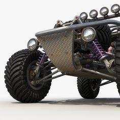 Dune buggy Model available on Turbo Squid, the world's leading provider of digital models for visualization, films, television, and games. Go Kart Buggy, Off Road Buggy, Custom Hot Wheels, Custom Cars, Kart Cross, Diy Go Kart, Fun Kart, Drift Trike, Trike Motorcycle