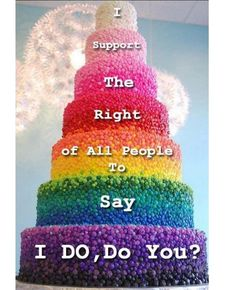 Equal Rights and Marriage Equality for all people!