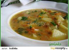 Kedlubnová polévka s mrkví a novými bramborami