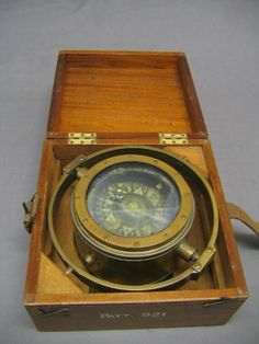 18th Century Ships Compass | Lot No 199 A brass ships compass contained in a binnacle marked patent ...