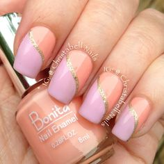 Instagram media by christabellnails - Went to do my nails the other day and pulled out my staple, Bonita Barely There, and to my horror there was barely anything there!!!! A quick run to the store and the world is right again! @bonitacolors #bonitacolors Barely There and Lilac Fields with a touch of LA Girl Sands of Time @lagirlcosmetics #lagirlcosmetics