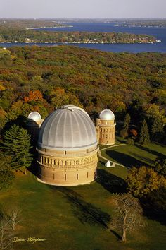 """Yerkes Observatory"" - Aerial View - Lake Geneva Wisconsin by Bruce Thompson  #GenevaImages"