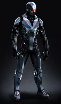 RoboCop Swat by Hazelrothjason on DeviantArt Armor Concept, Concept Art, Character Concept, Character Art, Armadura Ninja, Max Steel, Sci Fi Characters, Futuristic Design, Fantasy Armor