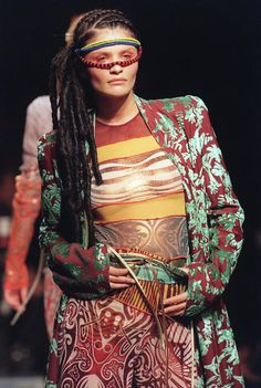 African inspired prints. L'enfant terrible, Jean Paul Gaultier, turns 60 - Lioness Woman's Club