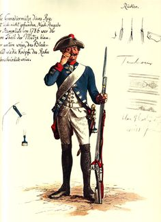 SOLDIERS- Menzel: SYW- Prussia: Prussian Infantry Regiment von Forcade No 23, by Adolph Menzel.