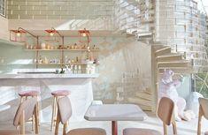 Restaurante de postres Shugga en Bangkok, diseño de Party/Space/Design