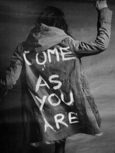 come as you are. i want to do this with some hoodies i have. make the backs as interesting as the front...