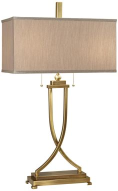 Uttermost Tapered 'X' Brass Table Lamp -
