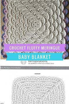 Crochet Fluffy Meringue Baby Blanket
